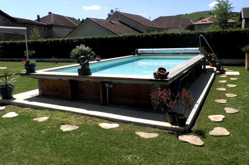 piscine hors sol acier et bois rectangulaire fabrication fran ais 6m x 3m. Black Bedroom Furniture Sets. Home Design Ideas