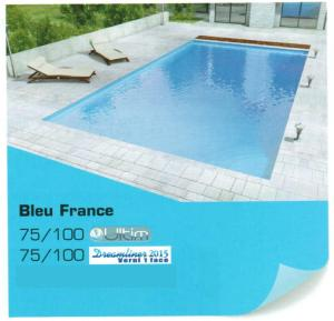 Liner piscine uni 75/100° alkorplan ultim Bleu france
