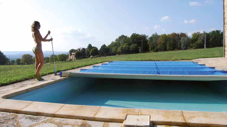B che barres piscine platinium opaque for Bache a barre piscine
