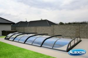 Abris piscine en kit Dallas Clear A Gris Anthracite