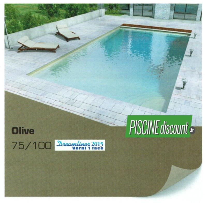 Liner pour piscine uni verni 1 face 75 100 alkorplan 2015 for Fournisseur liner piscine