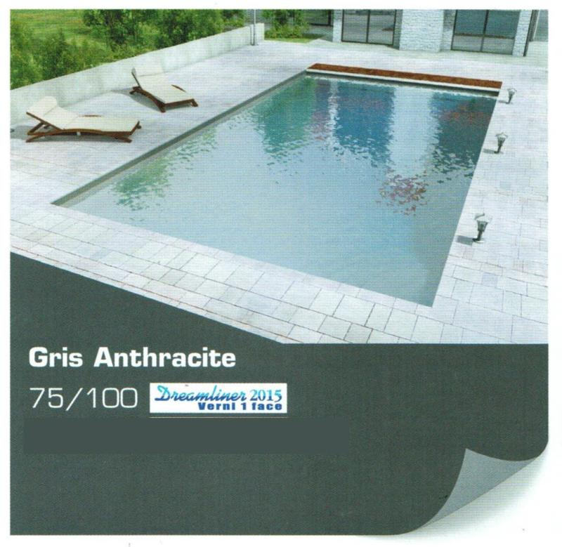 liner piscine uni verni 1 face 75 100 alkorplan 2015 gris anthracite. Black Bedroom Furniture Sets. Home Design Ideas