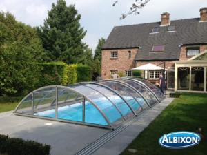 Abris piscine en kit Klasic Clear A Gris Clair