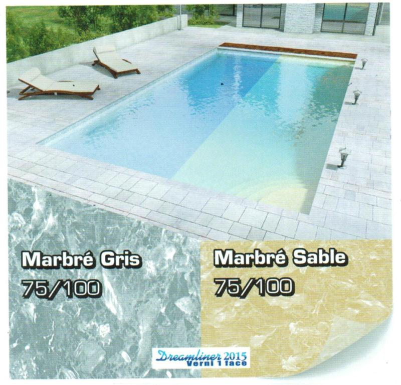 Liner imprim s 2010 et ultra 75 100e for Liner piscine couleur sable