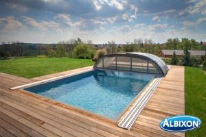Abris piscine en kit Dallas B Gris Anthracite