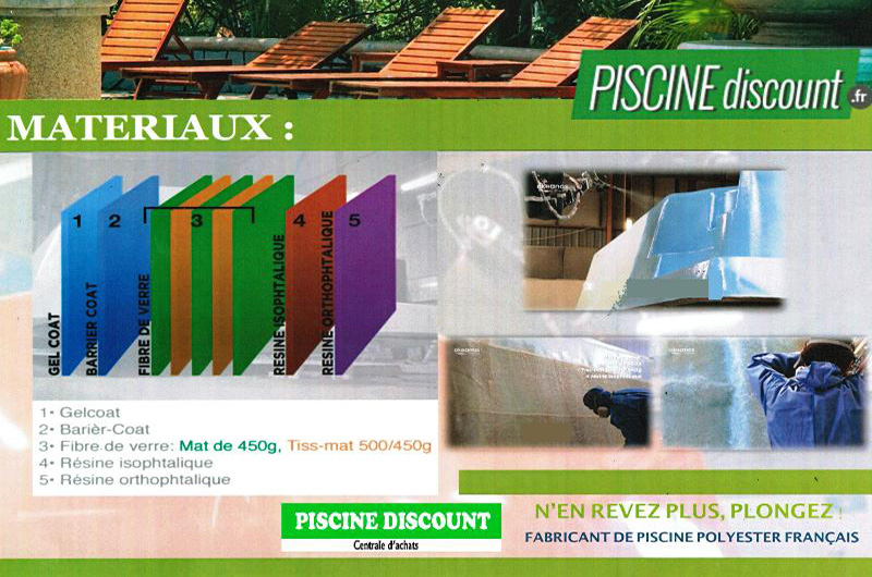 Piscine coque polyester RECTANGULAIRE 800