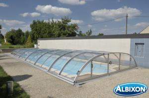 Abris piscine en kit Dallas Clear A Gris Clair
