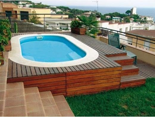 Piscine polyester ovale hydra 460 for Piscine bois 6x4 rectangulaire