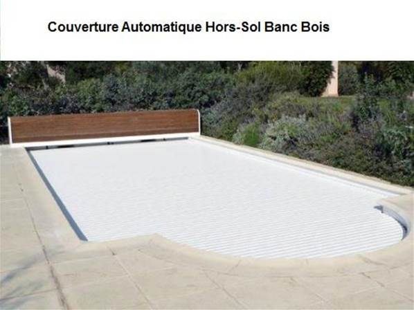 couverture hors sol banc bois piscine 9mx5m. Black Bedroom Furniture Sets. Home Design Ideas