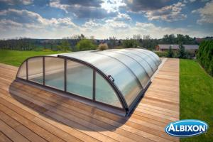 Abris piscine en kit Dallas A Gris Anthracite