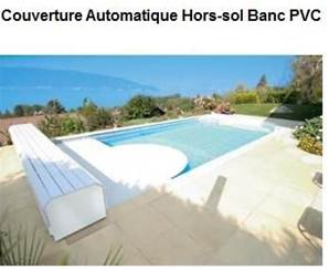 Couverture banc pvc piscine 9mx5m