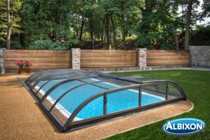 Abris piscine en kit Dallas Clear B Gris Anthracite