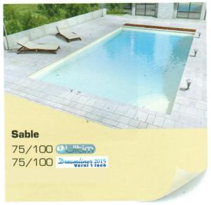 Liner piscine Uni Verni 1 face 75/100° alkorplan 2015 Sable