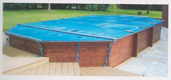 B che barres piscine bois 8m x 4m for Piscine bois hexagonale hors sol