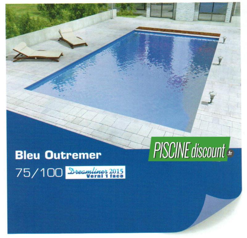 Liner piscine uni verni 1 face 75 100 alkorplan 2015 bleu for Fournisseur liner piscine